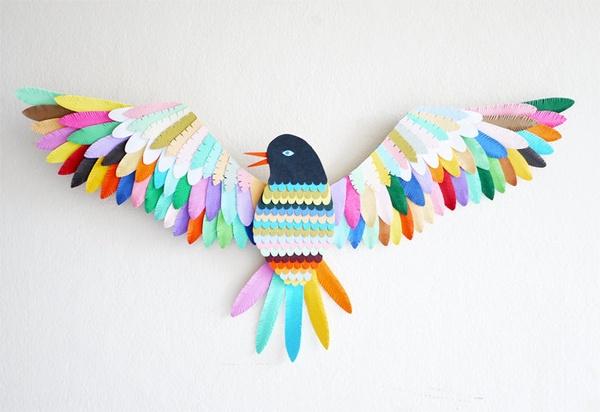 Pájaro hecho a mano
