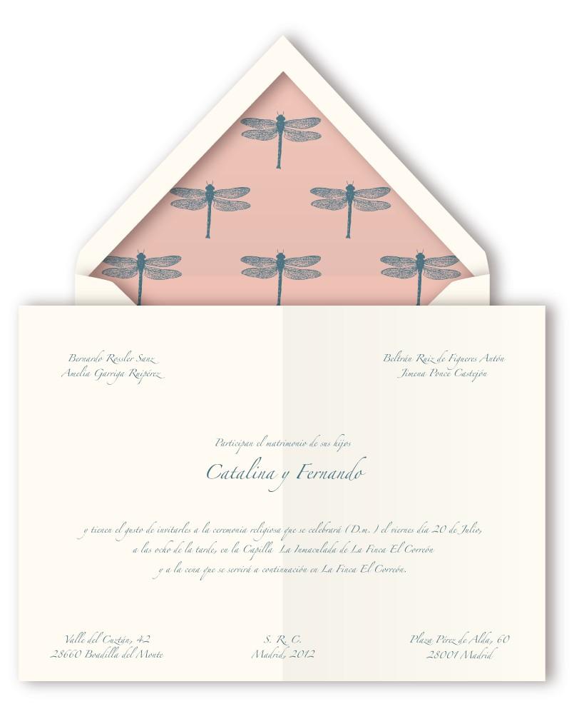 Invitaciones de boda clásicas y sencillas