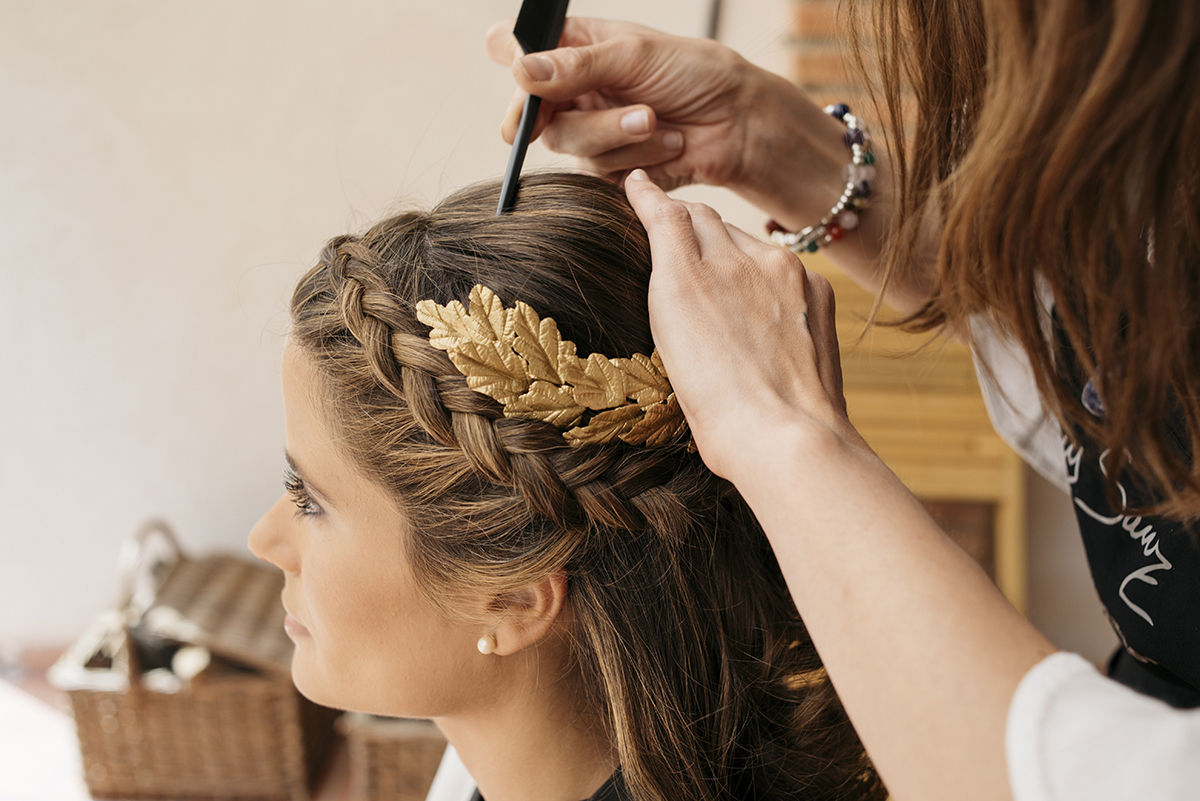 Novia con trenza - Peinado de boda