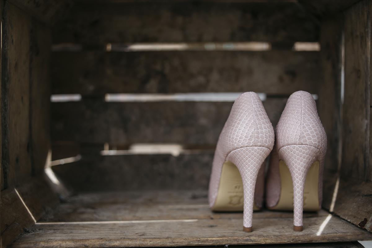 Zapatos rosa piel serpiente Keli&Salo